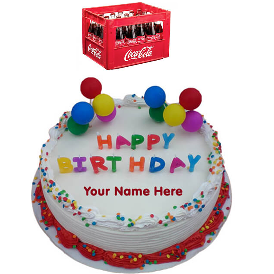 Magnificent Birthday Cake And Soft Drinks Personalised Birthday Cards Paralily Jamesorg