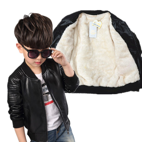 New Baby Leather Boy Jacket
