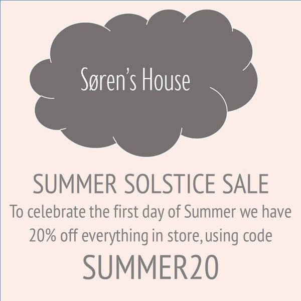 Our Summer Solstice Sale! Get 20% off everything in store using code SUMMER20