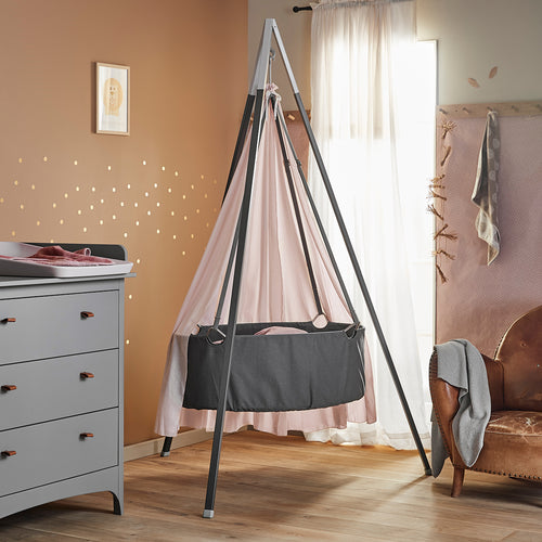 Leander Classic Cradle With Mattress - Grey