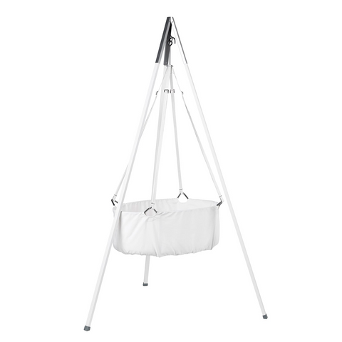 Leander Classic Cradle With Mattress - White