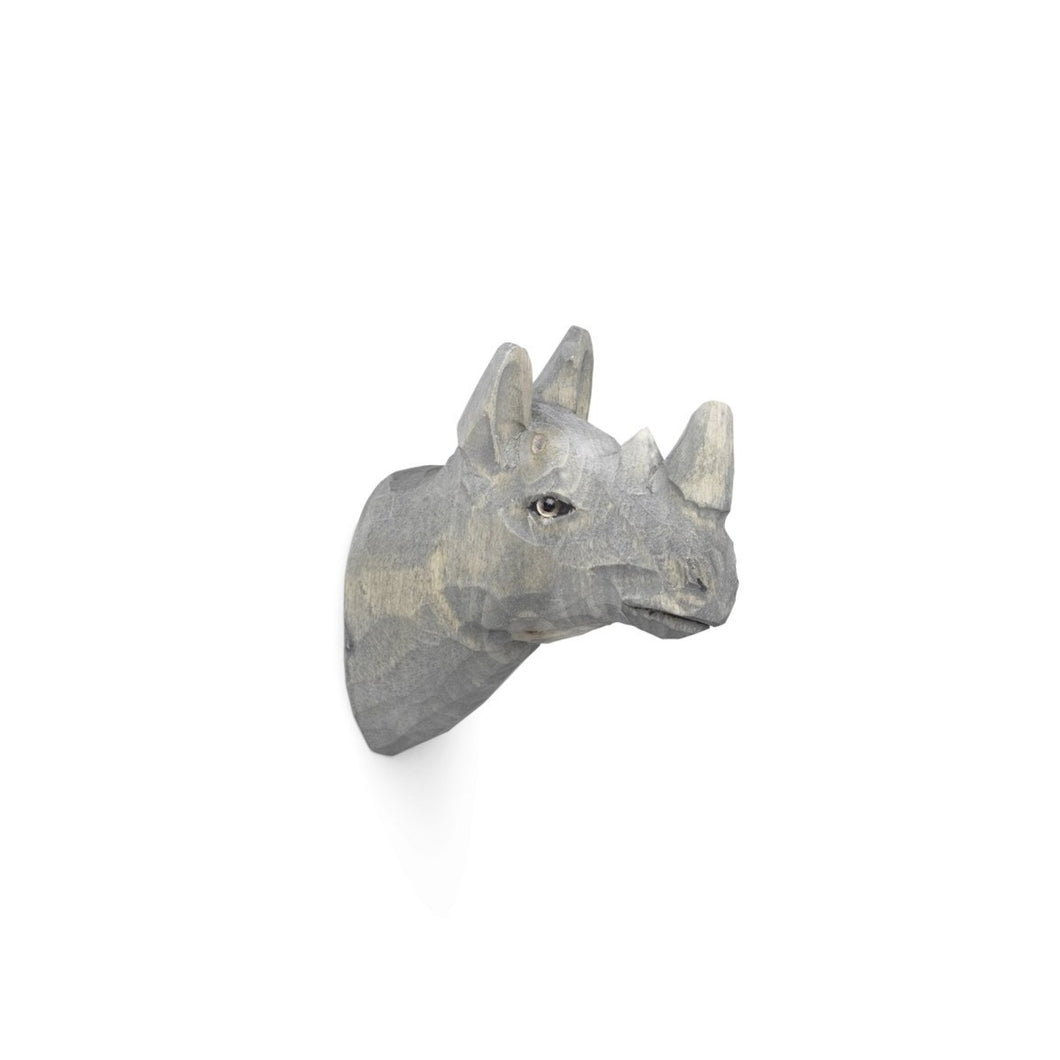 Ferm Living Wooden Animal Hook - Rhino
