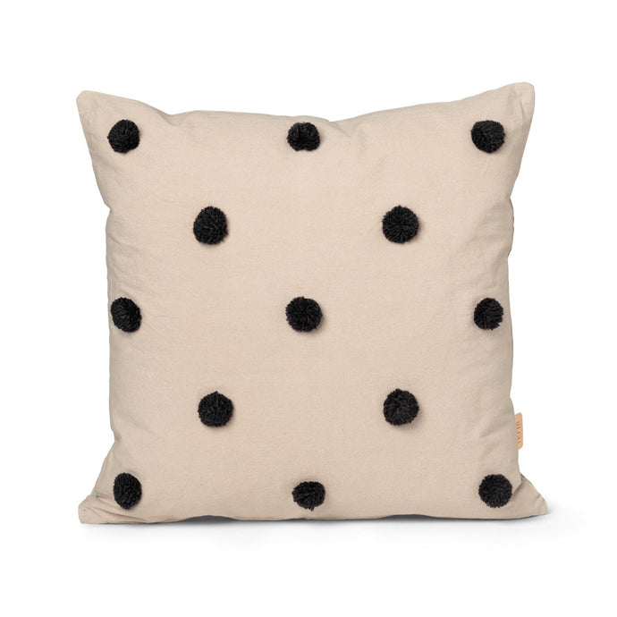 Ferm Living Dot Tufted Cushion - Sand/Black