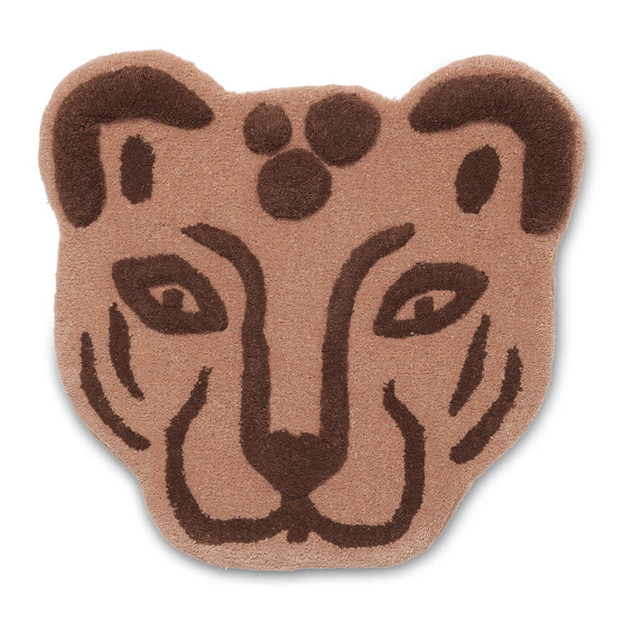 Ferm Living Tufted Leopard Head - Brown