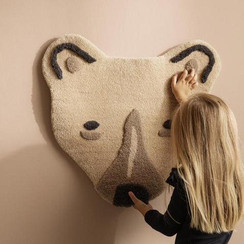 Ferm Living Tufted Polar Bear Head - Off White