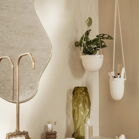 Ferm Living Speckle Hanging Pot - Off White