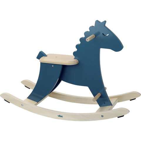 Vilac Wooden Rocking Horse - Blue