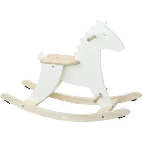 Vilac Wooden Rocking Horse - Ivory White