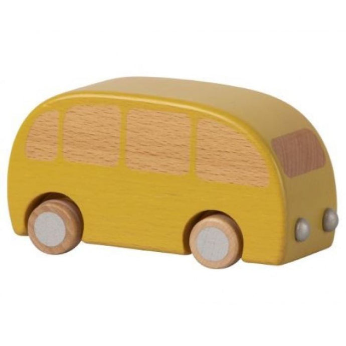 Maileg Wooden Toy Bus - Yellow