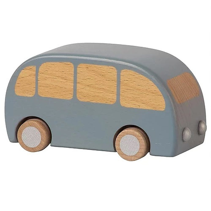 Maileg Wooden Toy Bus - Blue