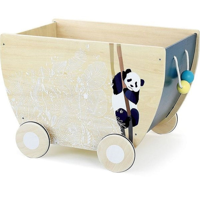 Vilac Wooden Toy Box Cart