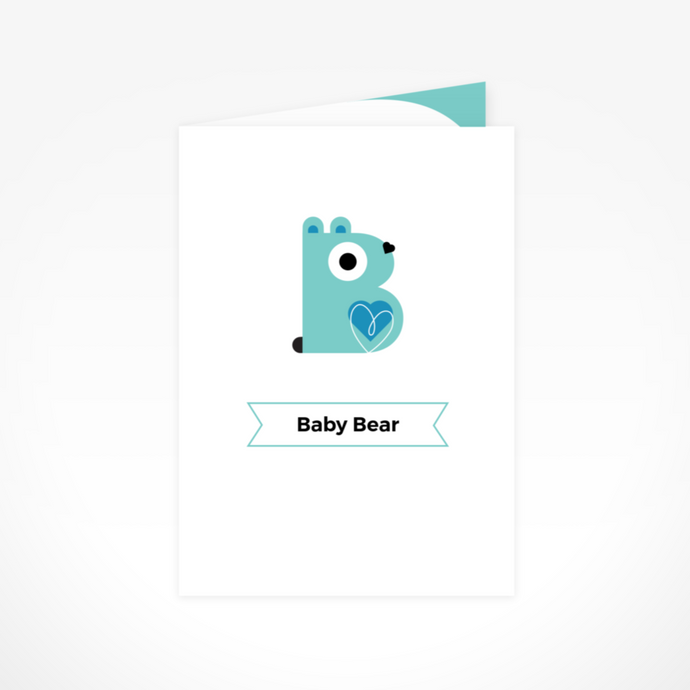 Baby Blue Bear Greeting Card By The Jam Tart