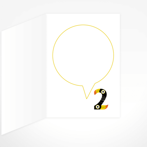 I Am Two (Toucans) Greeting Card By The Jam Tart