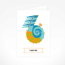 I Am Six (Seahorses) Greeting Card By The Jam Tart