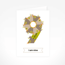 I Am Nine (Nightingales) Greeting Card By The Jam Tart