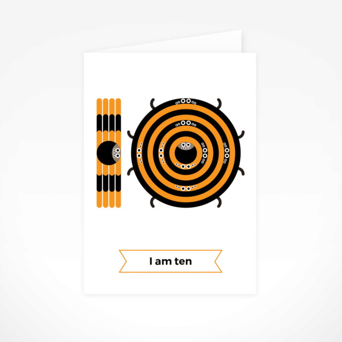 I Am Ten (Tarantulas) Greeting Card By The Jam Tart