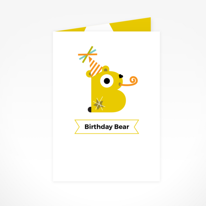 The Birthday Bear Greeting Card By The Jam Tart