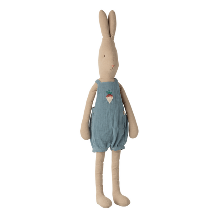 Maileg Rabbit in Blue Overalls - Size 3