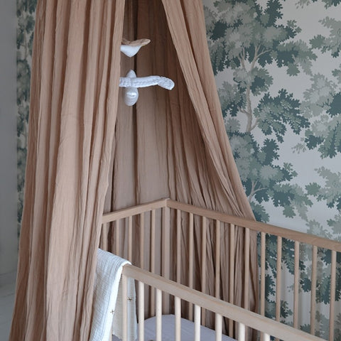 Konges Slojd Bed Canopy - Bark | Soren's House