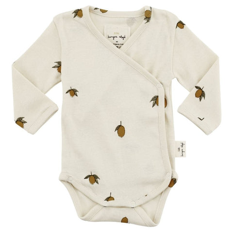 Konges Slojd Organic Newborn Bodysuit - Lemon