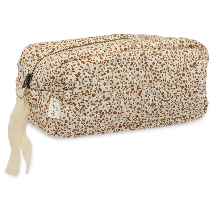 Konges Slojd Quilted Toiletry Bag - Blossom Mist Birk