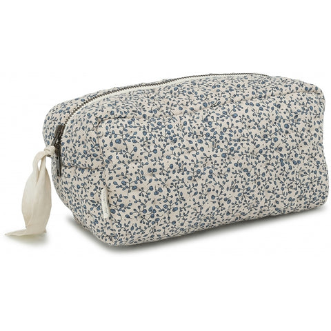 Konges Slojd Quilted Toiletry Bag - Blue Blossom Mist
