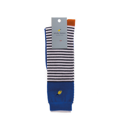 Sticky Lemon Knee High Socks - Special Edition Ink Blue