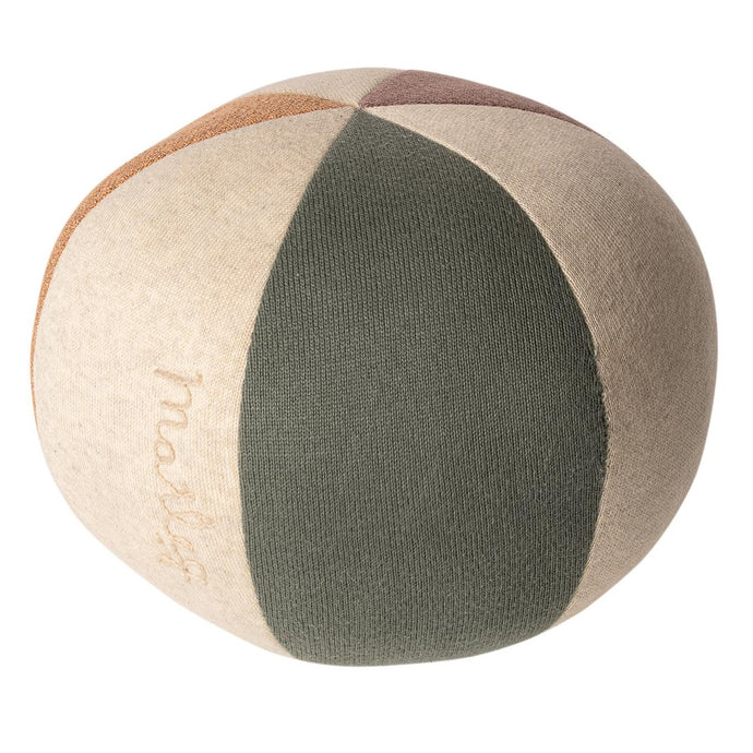 Maileg Soft Toy Ball - Green/Coral Glitter