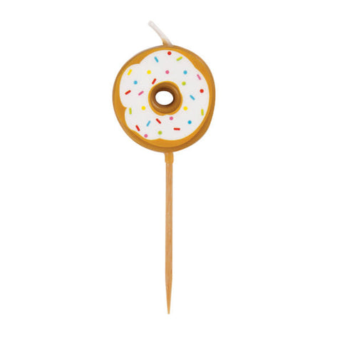 Set Of 6 Donut Pick Birthday Candles
