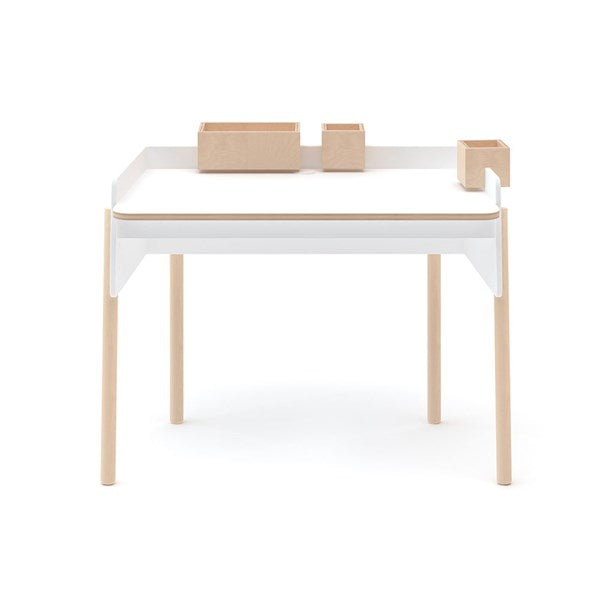 Oeuf NYC Brooklyn Height Adjustable Desk - White & Birch