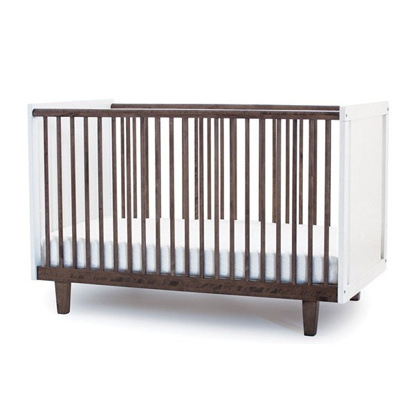 Oeuf NYC Rhea Cot Bed - White & Walnut