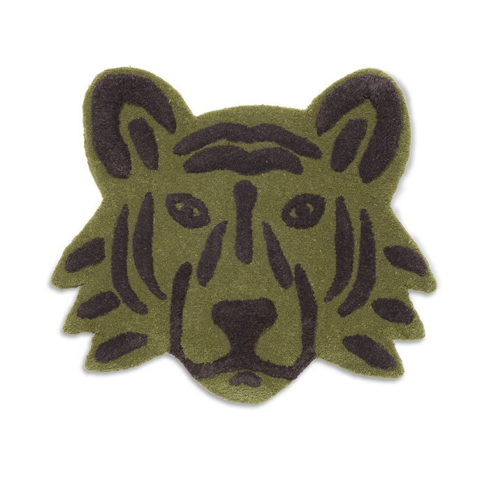 Ferm Living Tufted Tiger Head - Green