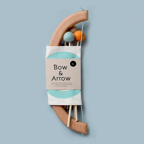 Wooden Bow & Arrow Set By Tangerine Studio - Green
