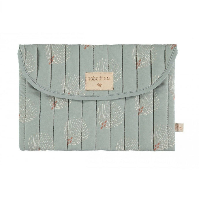 Nobodinoz Bagatelle Pouch - White Gatsby/Antique Green