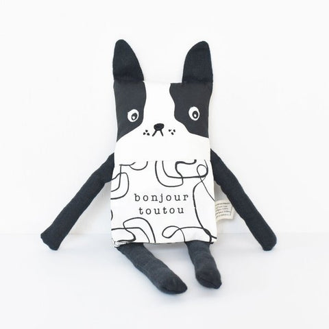 Wee Gallery Organic Flippy Friend - Dog French Edition (FREE DELIVERY)