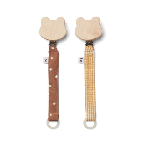 Liewood Sia Pacifier Strap - 2 Pack - Confetti Terracotta