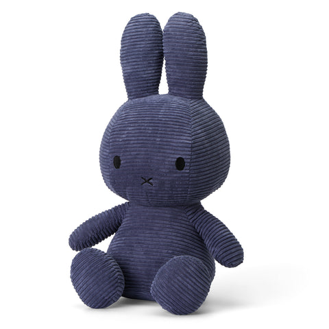 Miffy Corduroy Soft Toy - Extra Large 50cm Dark Blue