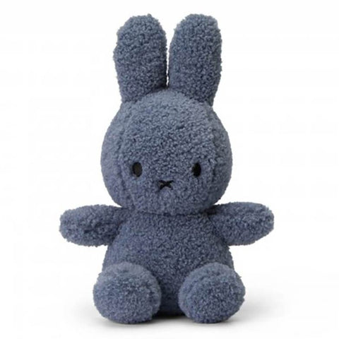 Miffy 'Teddy' Soft Toy - 23cm Blue (100% Recycled)