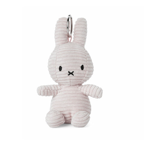 Miffy Corduroy Keyring Soft Toy - 10cm White