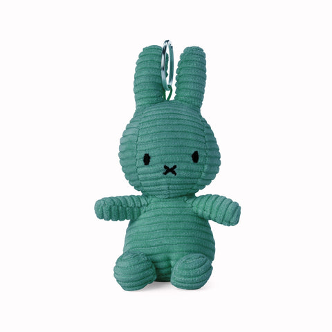 Miffy Corduroy Keyring Soft Toy - 10cm Green