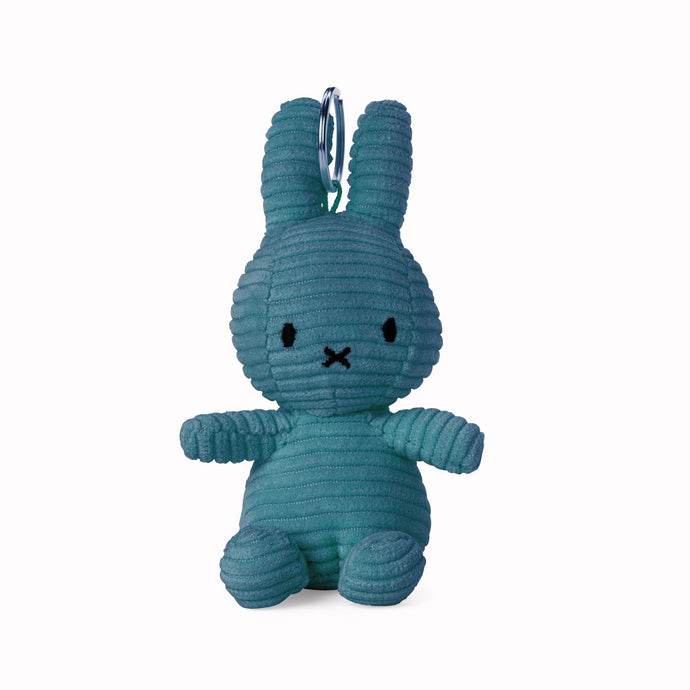 Miffy Corduroy Keyring Soft Toy - 10cm Blue