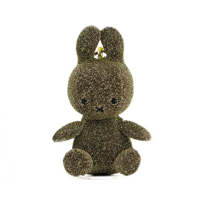 Miffy Glitter Gold Keyring Soft Toy - 10cm