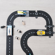 Waytoplay Rubber Toy Car Track Set - Highway - 24 Pieces