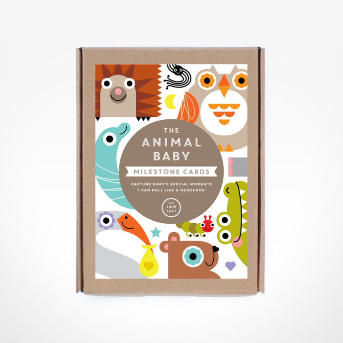 The Animal Baby Milestone Cards By The Jam Tart