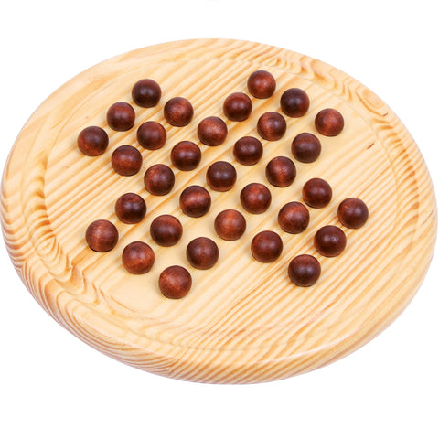 Legler Solitaire Wooden Marble Game