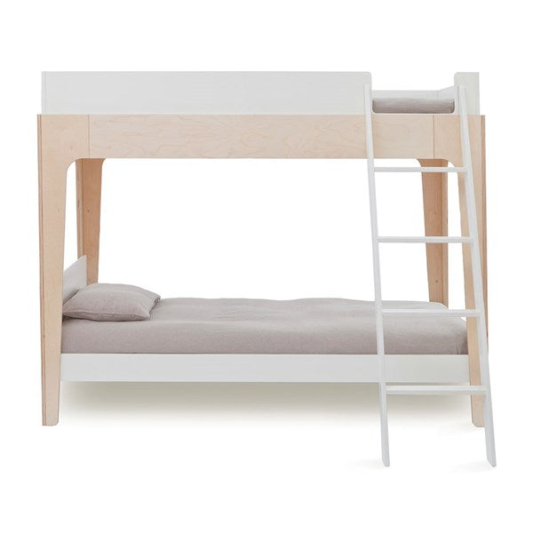 Oeuf NYC Perch Bunk Bed - White & Birch