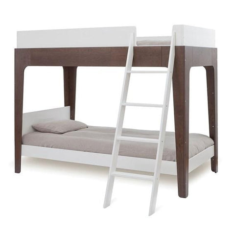 Oeuf NYC Perch Bunk Bed - White & Walnut