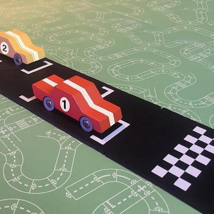 Waytoplay Rubber Toy Car Track - Start & Finish Extension Set - 2 Pieces