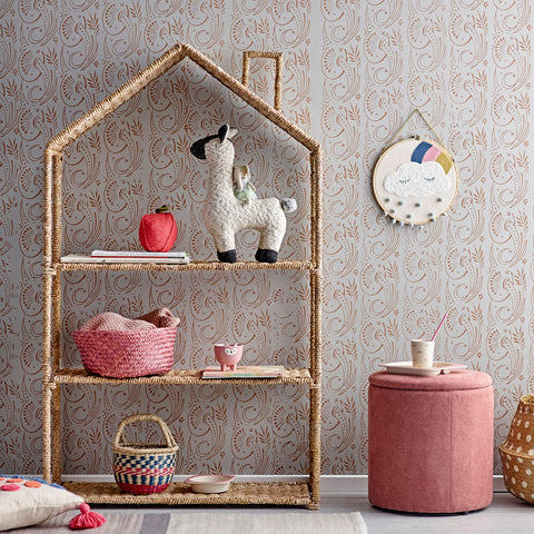 Bloomingville Rattan House Bookshelf