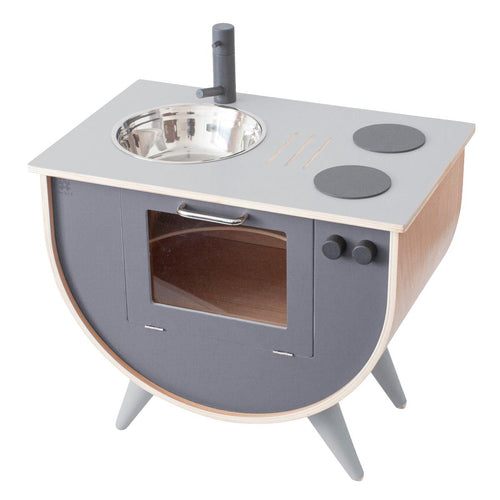 Sebra Wooden Play Kitchen - Elephant Grey